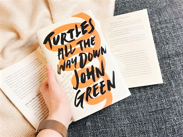 Turtles all the way down, john green, novel, review, book blogger, written by charlotte